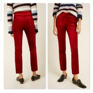 The Essential Slim Velvet Ankle Trousers N…